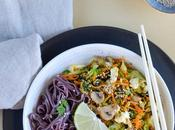 légumes d'hiver nouilles noir l'asiatique
