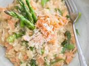 Risotto saumon asperges cookeo
