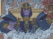[ILLUSTRATION] personnages d'Avengers Endgame revus dans style ukiyo-e