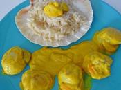 Jacques crème curcuma risotto