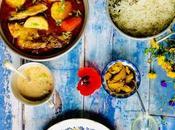 """Daube poule"""": plat sauce mauricien subtilement épicé base poulet, pommes terre carottes"""