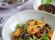 crevettes caramélisées légumes saison