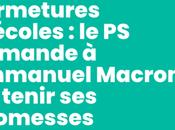 Fermetures d'écoles demande Emmanuel Macron tenir promesses