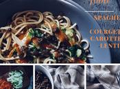 [food] spaghettis courgettes, carottes lentilles, transition parfaite entre automne