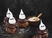 Muffins flocons d'avoine Bjorg, bananes, chocolat meringues fantômes