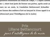 Prix Liliane BETTENCOURT pour l'Intelligence main -Appel candidatures Novembre Avril 2020