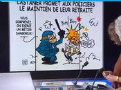 dessin retraites policiers France 24...