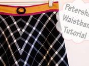 Pour ceinture jupe facile, utiliser ruban gros grain