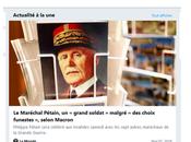 Macron après réhabilitation Pétain, celle Maurras
