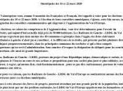 Municipales mars 2020 – Communiqué LRDG d'Europe