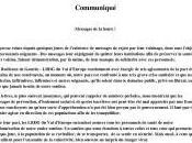 Messages honte. communiqué LRDG d'Europe