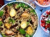 Briani poulet plat base épicé très populaire l'île Maurice, classique fois street-food, festif complet quotidien