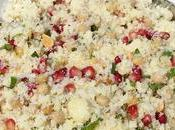 Salade couscous pois chiche, grenade menthe