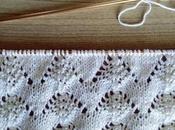 Tricoter point sommets ajourés châle droit)