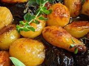 Pommes terre rôties caramel pruneaux d'Agen.