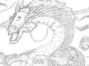 Dessin d'un dragon crayon