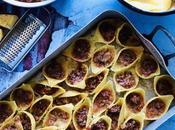 Conchiglioni farcis bolognaise créole gratinés gouda cumin