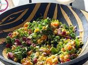 Salade patate douce pois cassés