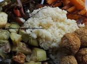 Buddha bowl boulgour, falafels légumes rotis Vegétarien Healthy