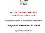 Château Poncé château jardins… partir