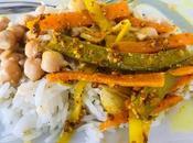 Curry pois chiche, achards légumes indien
