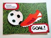 Carte anniversaire pour foot
