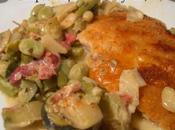 Escalopes dinde gratinées comté légumes