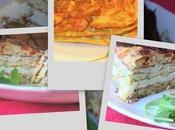 Gâteau d'omelettes couleurs italiennes
